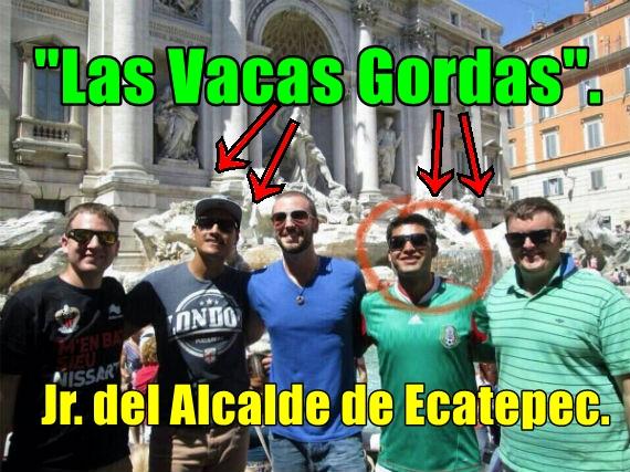 Junior, hijo del alcalde de Ecatepec es viajero frecuente. Dice que lo hackearon.