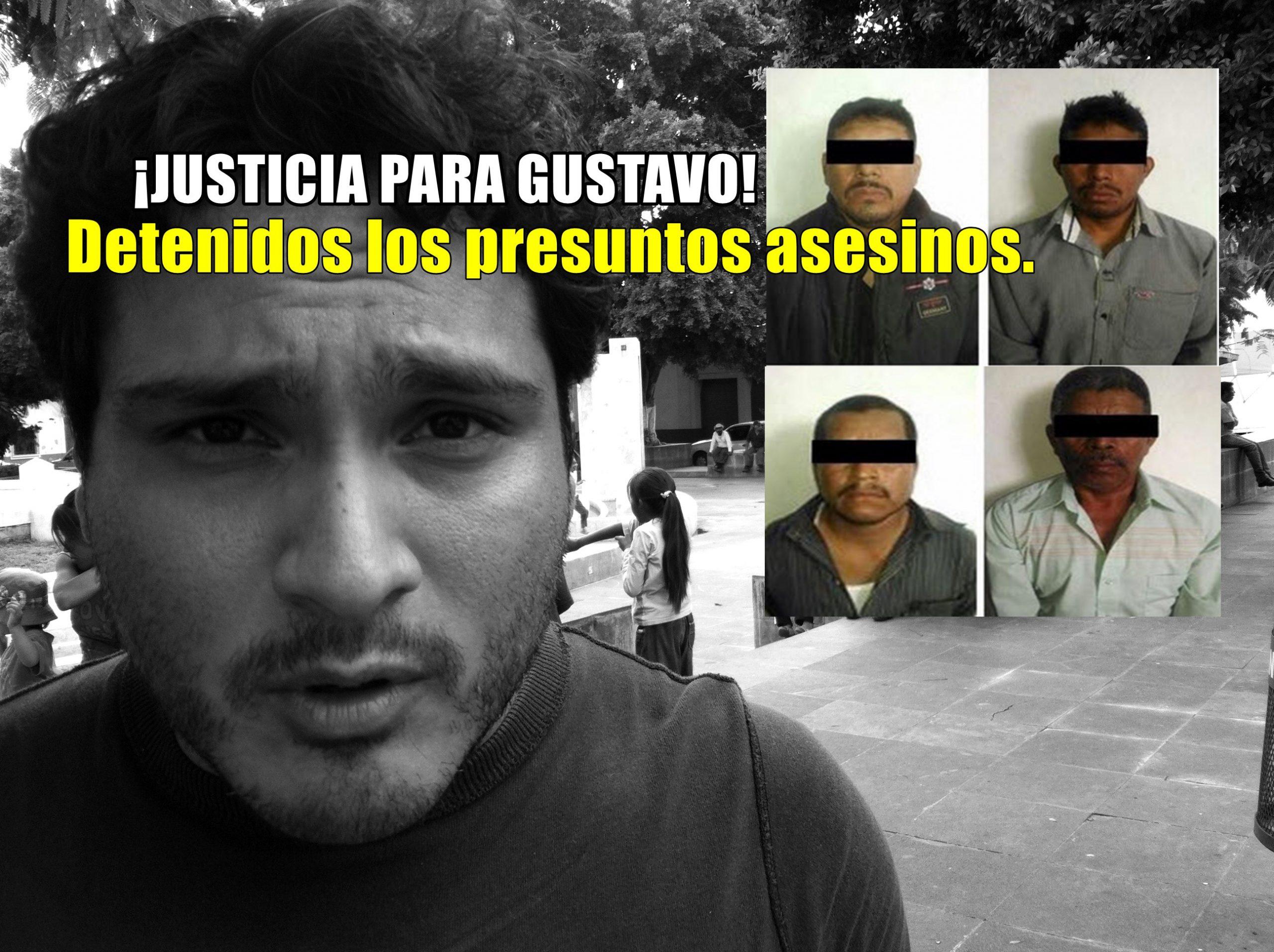 Detienen a los presuntos asesinos del activista Gustavo Salgado.