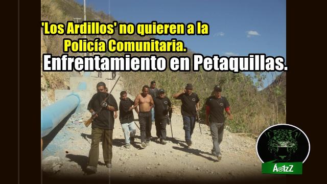 Después de narcoprotesta, grupo vinculado a 'Los Ardillos' enfrenta a pobladores de Petaquillas.