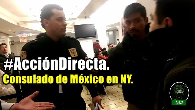 Acción directa en el Consulado de México en NY. ¡Empleados se indignan!
