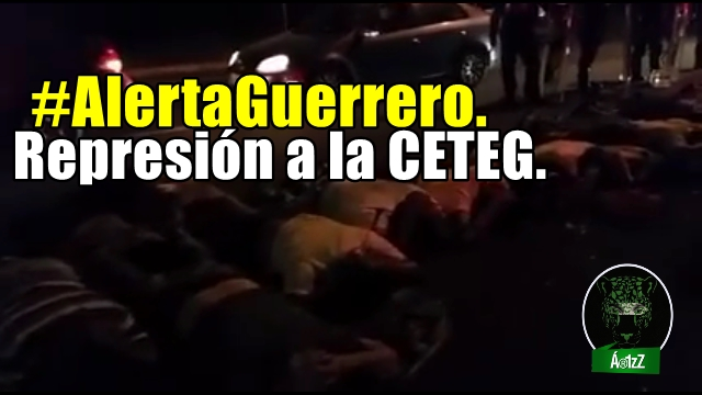 El gobierno criminal de Peña Nieto usa a su Policía Federal para reprimir en Guerrero.