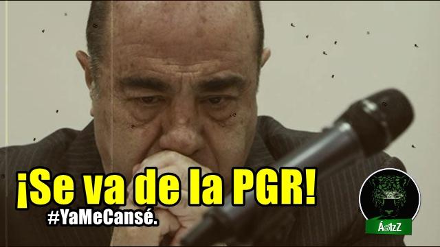 Jesus Murillo (a) 'el cansado' Karam se va de la PGR. ¡Por fin, pero no es suficiente!