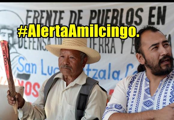 #AlertaAmilcingo. Amenaza de represión a integrantes del Frente de Pueblos.
