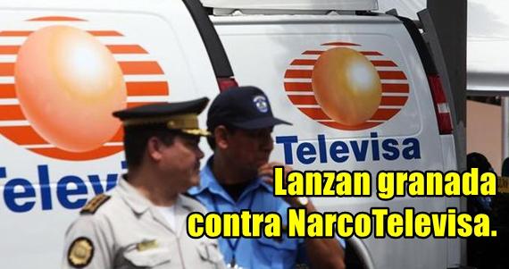 Granadazo contra Televisa del Noreste en Matamoros. Hay dos heridos.