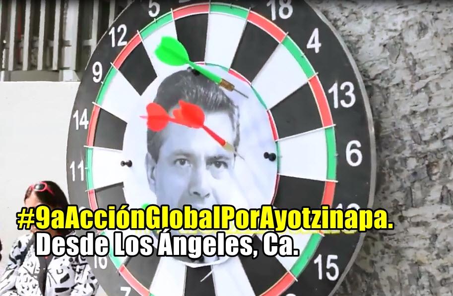 Los Ángeles, California, presentes en la #9aAcciónGlobalPorAyotzinapa.