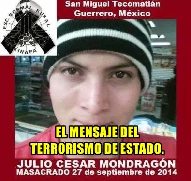 A Julio César Mondragón, lo desollaron para mandarnos un mensaje. Terrorismo de Estado.