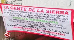 Narcomantas en Chilpancingo.
