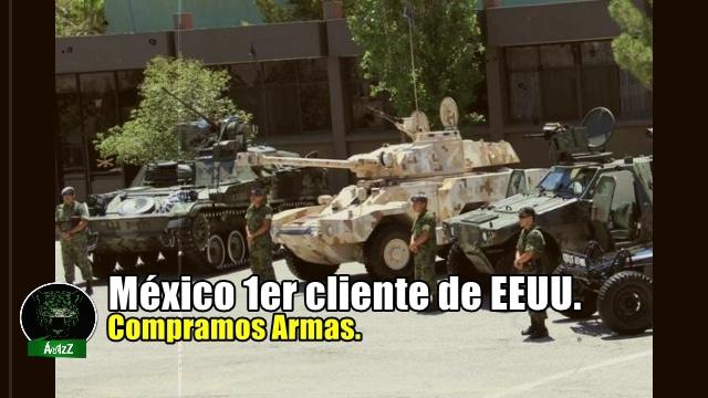 México es ya el principal comprador de armas, de todo el continente, a los Estados Unidos.