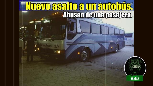 Otra vez un asalto a un autobús y otra vez abusan de una pasajera.