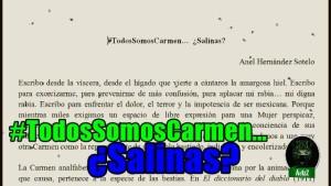 #TodosSomosCarmen… ¿Salinas?
