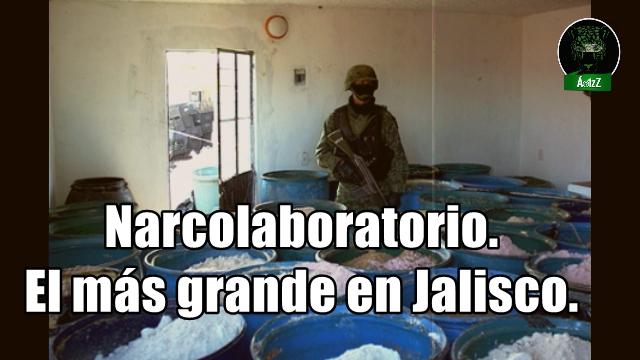 Desmantela mega laboratorio para drogas sintéticas en Jalisco.