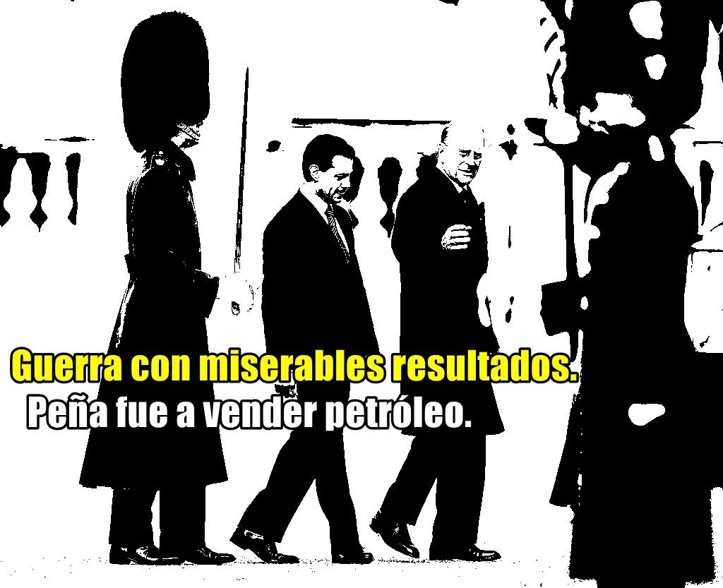 La guerra contra las drogas en México es un 'fracaso miserable', le dicen a EPN en Reino Unido.