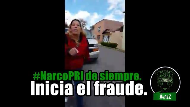 La maquinaria fraudulenta del #PRI sigue operando. #NoVoto.