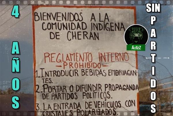 Celebra Cherán, 4 años sin partidos políticos.