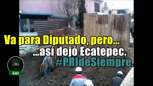 Pablo Bedolla, en Ecatepec, va para diputado, después de este desastre. #PRIdeSiempre.