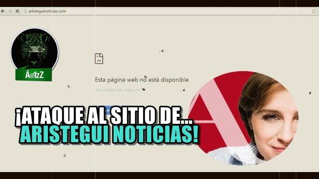 Siguen los ataques contra Aristegui. Tiraron su portal de noticias.