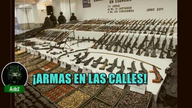México, un país con cientos de miles de armas en las calles. ¡Y eso que no hay guerra!
