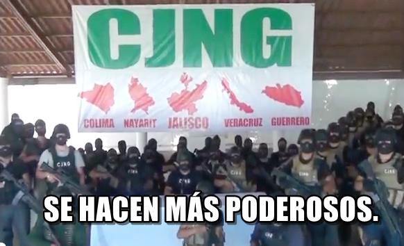 Cártel Jalisco Nueva Generación. El cártel que más crece en los últimos años.