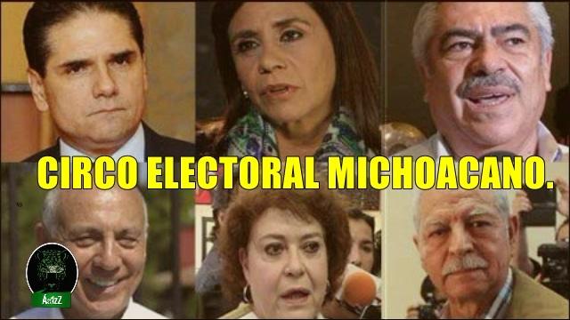 Dos perredístas y cuatro candidatos más van por la gubernatura en Miachoacán.