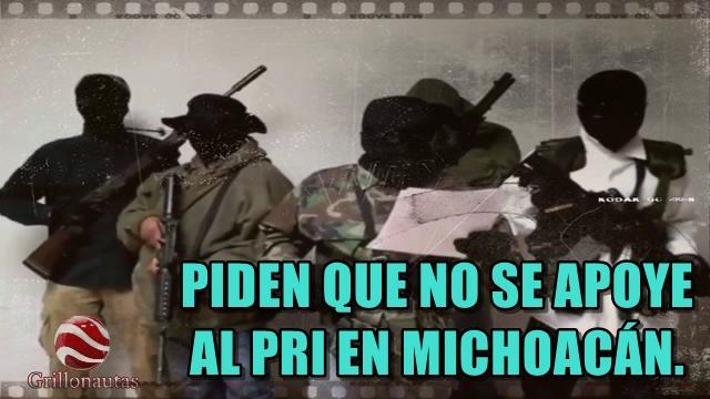 Presuntos Autodefensas de Michoacán envían comunicado.