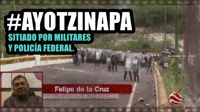Tixtla, bajo estado de sitio. Impiden movilidad de la gente de Ayotzinapa.