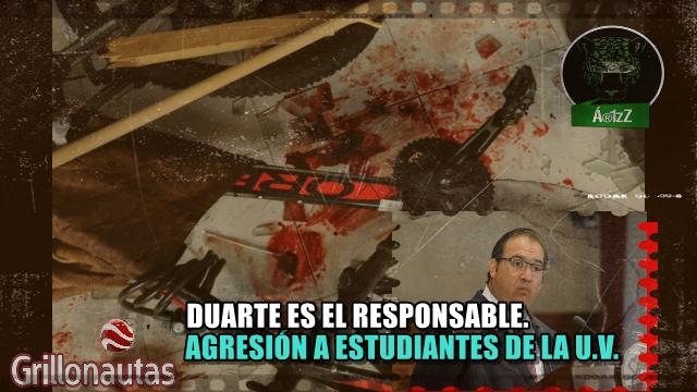 Agreden a estudiantes de la Universidad Veracruzana. Responsabilizan a Javier Duarte