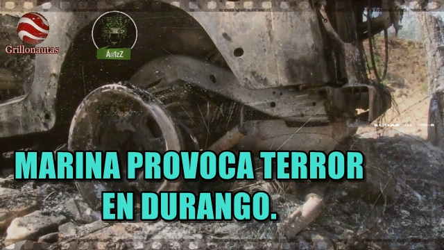 Desde dos helicópteros, Marinos disparan contra pobladores en Durango. SEMAR se justifica.