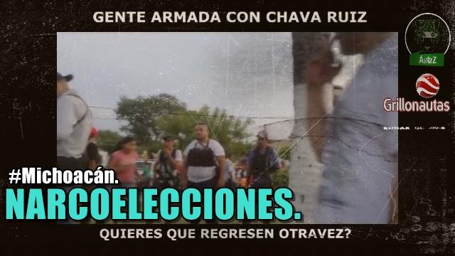Narcoelección en Michoacán, como hace 4 años: candidatos del PRI en Nueva Italia, mandan gente armada a evento del PRD.