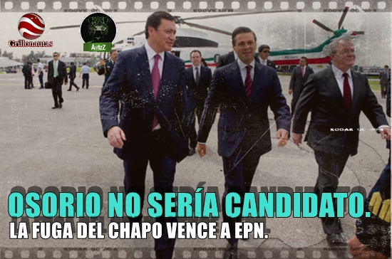 Se derrumba la candidatura de Osorio Chong para 2018 tras la fuga del Chapo.