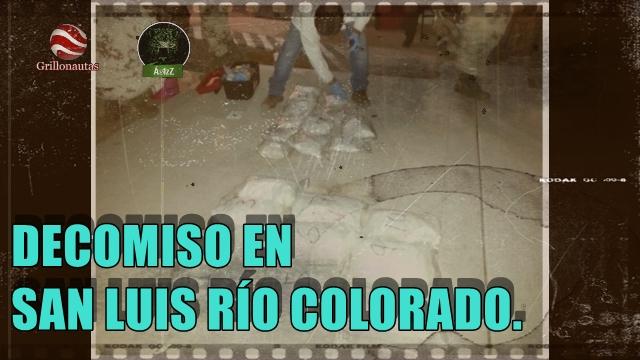 Decomisan más de 30 kg de metanfetaminas en San Luis RÍo Colorado, Sonora.