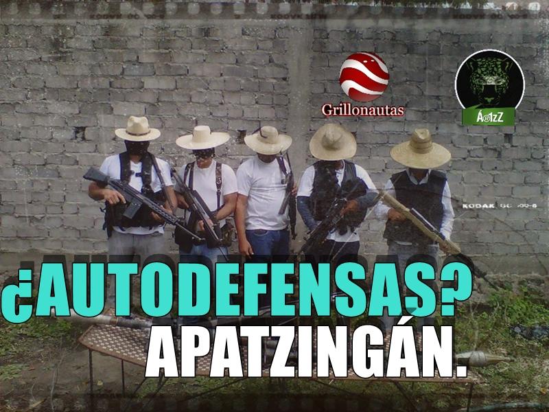 Presumiendo un lanzagranadas, aparece nueva autodefensa en Apatzingán.