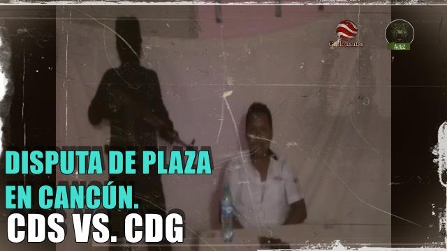 Interroga el Cártel del Golfo a miembro del Cártel de Sinaloa en Cancún.