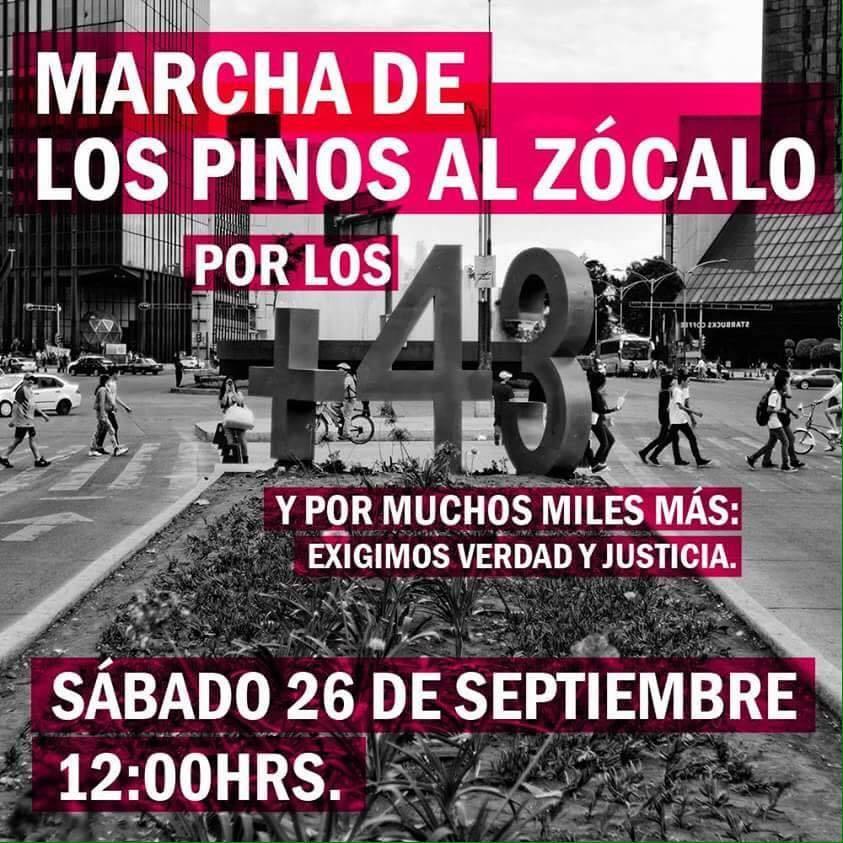 Convocatoria para la Marcha por +43 el 26 de Septiembre. (COMPARTE).