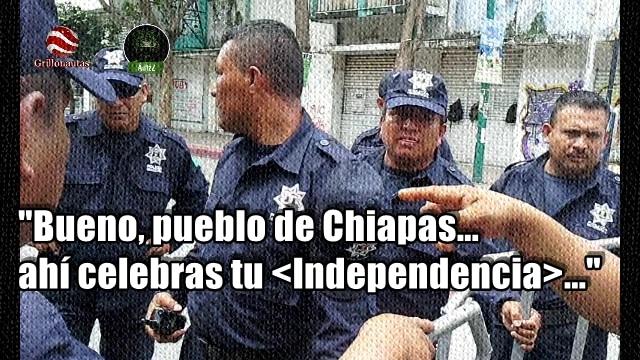 Manuel Velasco también le teme al pueblo. Cierra las calles para 'su fiesta' del Grito.