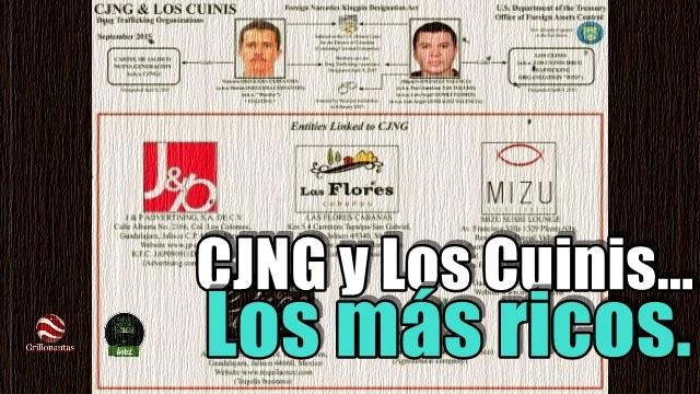 Detectan más empresas del CJNG y Los Cuinis desde Estados Unidos.