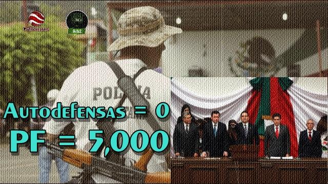 El Jefe de Plaza, Silvano Aureoles, promete que no habrá más Autodefensas.
