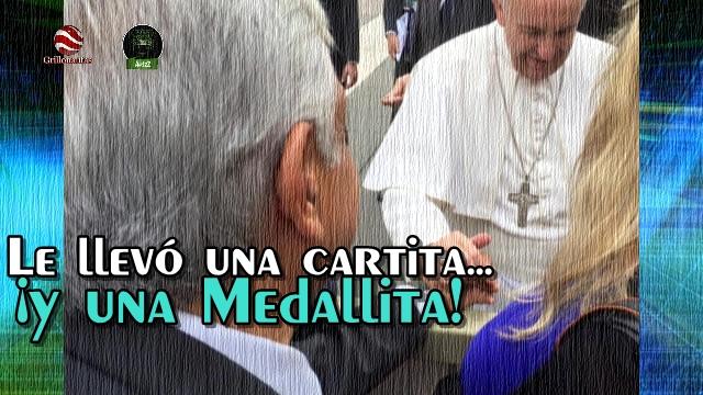 La carta que entregó AMLO a Francisco en su visita al Vaticano.