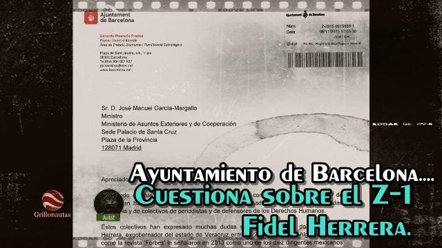 Ayuntamiento de Barcelona cuestiona a Ministerio del Exterior sobre Fidel Herrera.