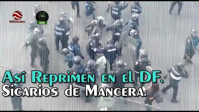 Sicarios del Jefe de Plaza en el DF, Mancera, golpean a adultos mayores y mujeres.
