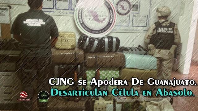 Desmantelan célula del CJNG en Guanajuato; les decomisan un arsenal.