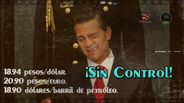 Dólar casi a 19 pesos y EPN dice que 'al fin ocurre en todo el mundo'.