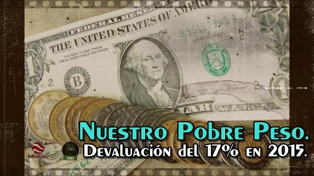 Nuestro pobre peso devaluado en 2015.