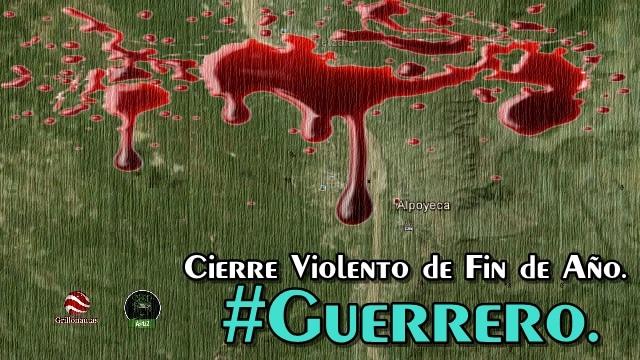 Con asesinatos en tres municipios, termina el año Guerrero.