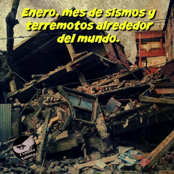 Enero, mes de sismos y terremotos alrededor del mundo. China, Japón, Chile, Bolivia e India entre los países afectados.
