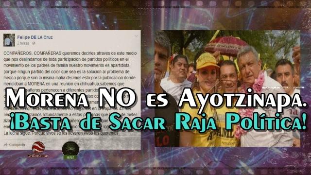 Ayotzinapa se vuelve a desmarcar de Morena. ¡A ver si de una vez lo entienden!