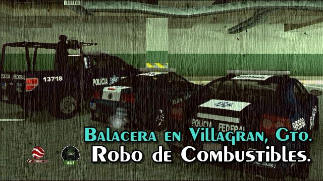 Balacera entre Policías Federales y ladrones de combustible en Guanajuato.