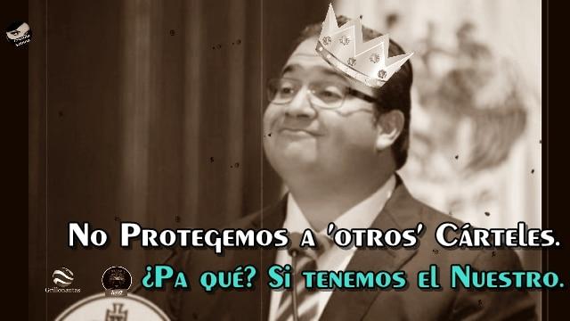Mi gobierno no protege a ningún cártel: Javier Duarte. No es broma, eso dijo.