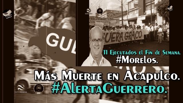Ejecuciones en Guerrero y Morelos. Los Jefes de Plaza, Graco y Astudillo, ni se inmutan.