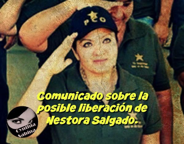 Comunicado sobre la posible liberación de Nestora Salgado.