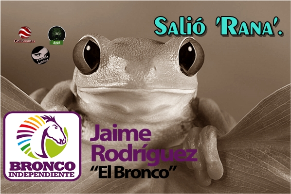 Jaime Rodríguez Calderón, El Bronco; 'nos salió rana'.